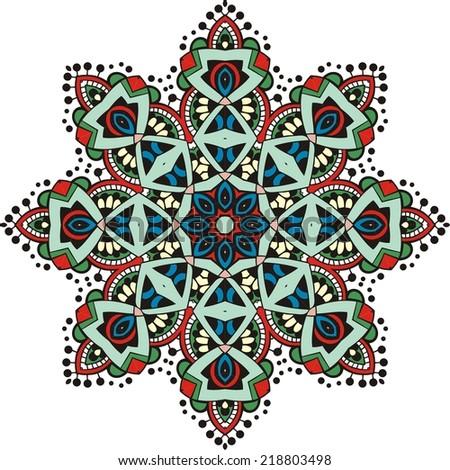Illustration of mandala design. Concept image for card, yoga studio, meditation, stock vector.   - stock vector