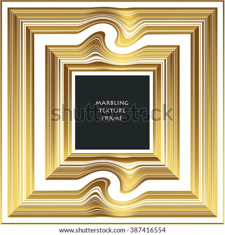 Illustration of Marbling Texture for Design, Website, Background, Banner. Ink Liquid Element Template. Curve, Wavy and Straight Lines Pattern. Gold, white and Black Greeting Card or Pack - stock vector