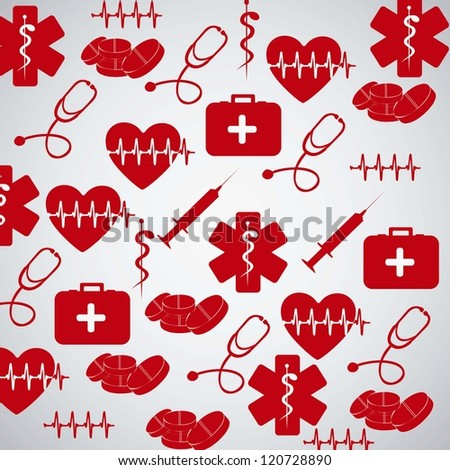 Illustration of Medical Logo Vector, in red color, vector illustration