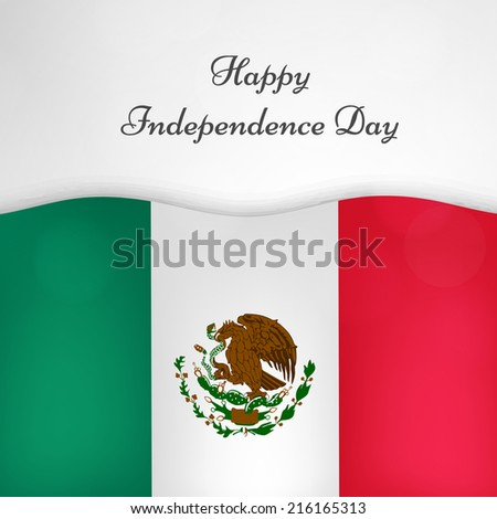 Illustration of Mexico Flag for Independence Day