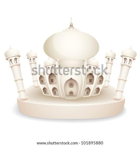 illustration of model of Taj Mahal of India - stock vector