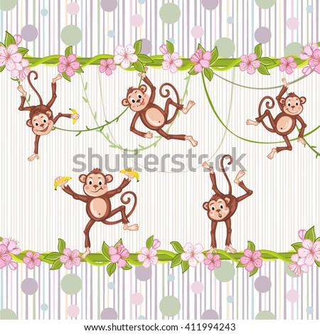 Bonobo 4 girls playing