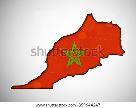 Illustration of Morocco Flag for Independence Manifesto Day