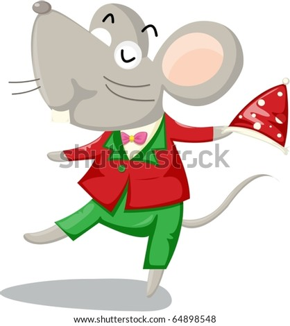 illustration of mouse on a white background