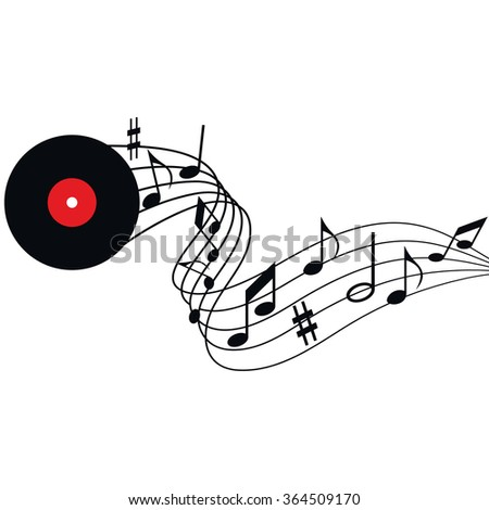 Illustration of music, the songs, notes, the melodies on a music background, music notes, music festival, music vector - stock vector