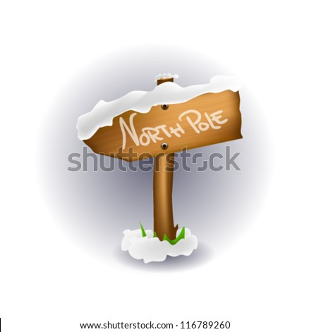 Illustration of North Pole sign - stock vector