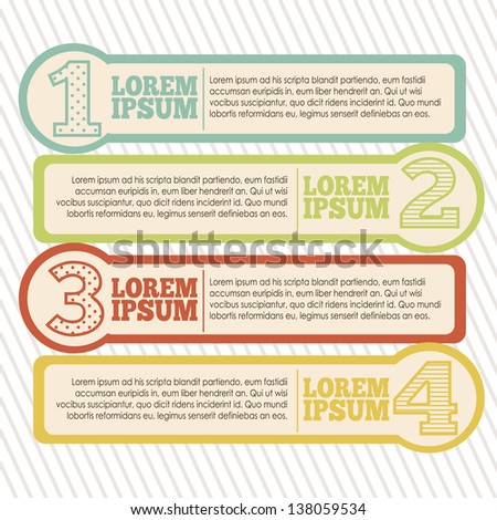 Illustration of Numbers Brochure, step by step, count or list, vector illustration - stock vector