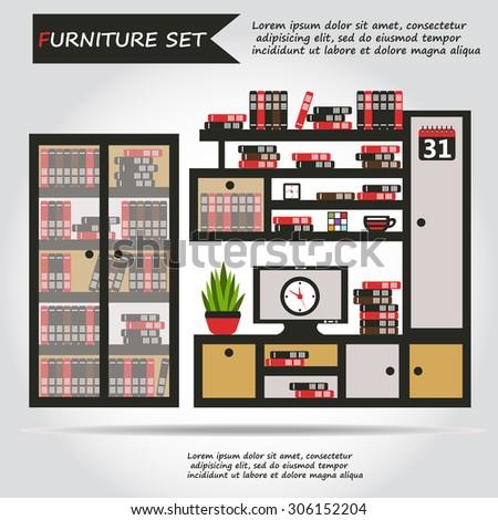Architectural Color Floor Planstudio Apartment Stock