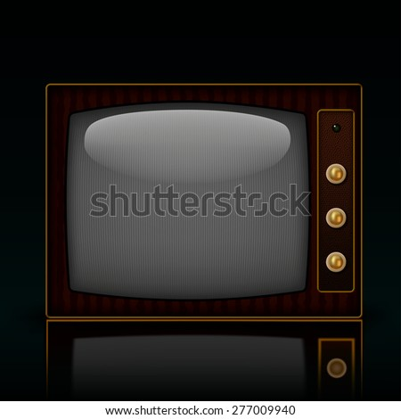 Illustration of old TV