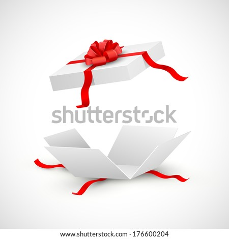 illustration of open gift box surprise - stock vector