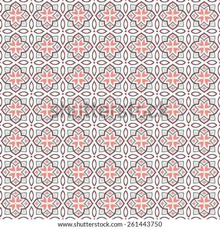 Illustration of ornament pattern. Geometric seamless background - stock vector