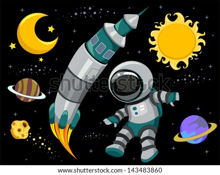 Man in the moon stock photos images pictures for Outer space elements