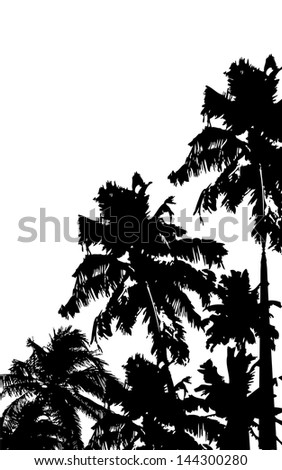 illustration of palm tree in grungy background - stock vector