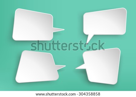 illustration of paper lists set with different shapes - stock vector