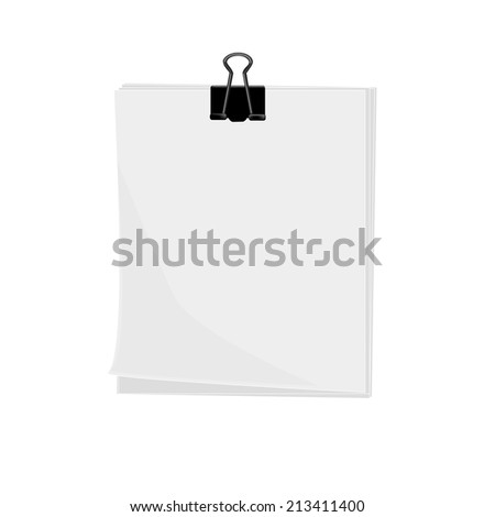 illustration of paper with clip