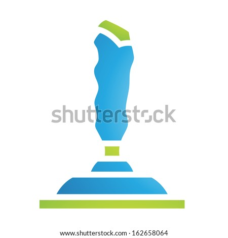 Illustration of PC Accessories Joystick Icon isolated on a white background - stock vector