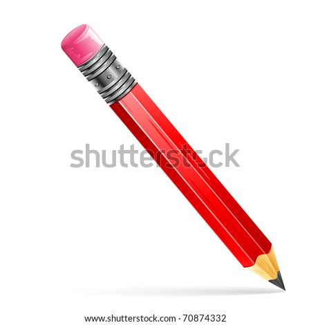 illustration of pencil on isolated white background