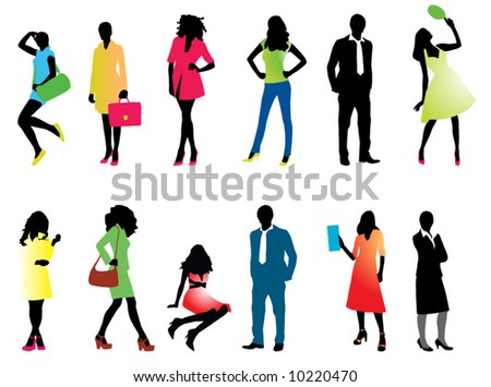 Illustration of people silhouette
