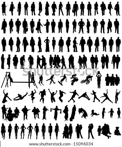 Illustration of people silhouettes
