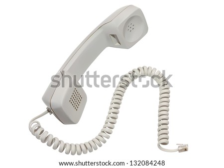 Illustration of Phone Receiver on White Background - stock vector