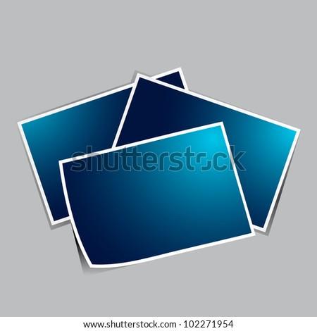 illustration of photo frame on plain background - stock vector