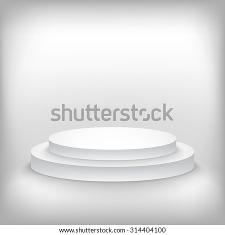 Illustration of Photorealistic Winner Podium Stage Background. Used for Product Placement, Presentations, Contest Stage. - stock vector