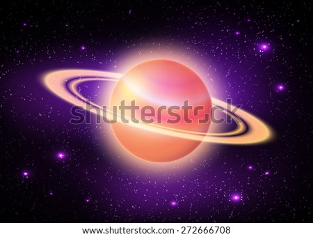 illustration of planet in deep space.