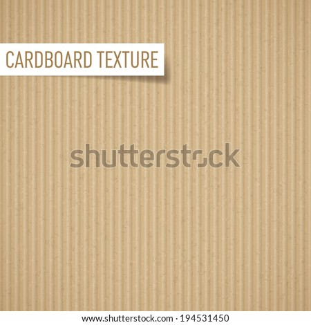Illustration of realistic carton texture. Seamless cardboard pattern - stock vector