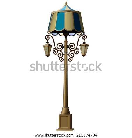Illustration of realistic lamppost