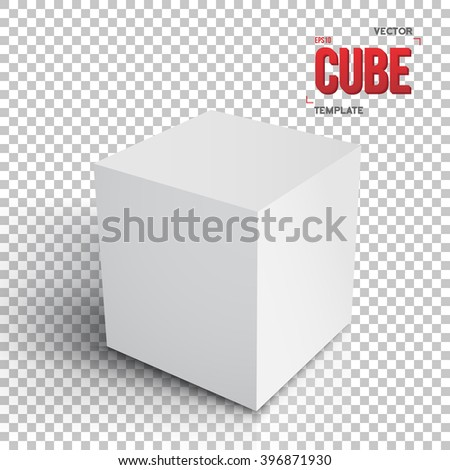 Illustration Realistic Vector Cube Template Vector Stock Vector