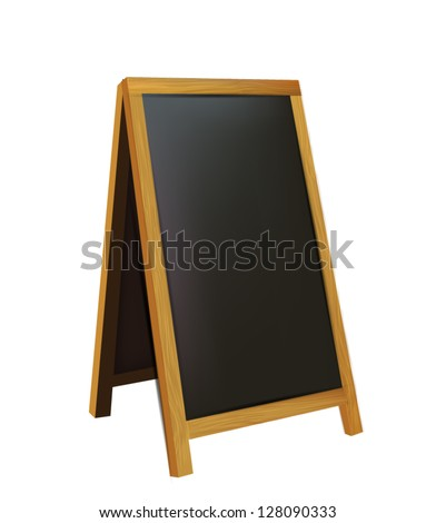 Illustration of realistic wooden board for restaurant menu