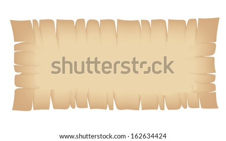 Illustration of Rectangle Beige Torn Banner isolated on a white background - stock vector
