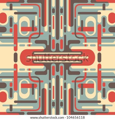 Illustration of retro abstraction. Vector illustration. - stock vector