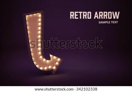 Illustration of retro glowing lamp theme eps 10  - stock vector