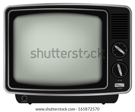 Illustration of Retro Television Isolated on White Background