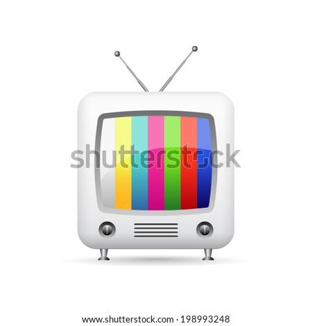 Illustration of retro tv - stock vector