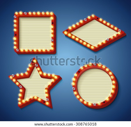 Illustration of Retro vintage banner - stock vector