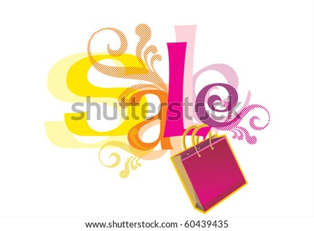 "Illustration of ""Sale"" design template - stock vector"