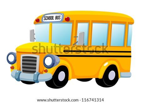 illustration of School bus vector - stock vector