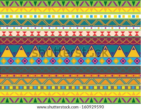 illustration of  seamless background with a aztec and mexican ornament