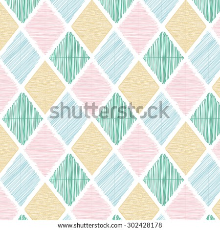 Illustration of Seamless Geometric Color Tile Vector Pattern Background Wallpaper. You can find fully worked pattern in swatches library - stock vector