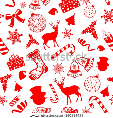illustration of seamless pattern for Christmas background - stock vector