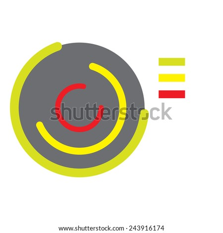 illustration of set of different doughnut chart on isolated background - stock vector