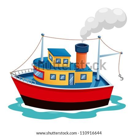 Illustration of ship vector - stock vector