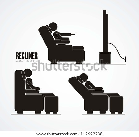 Illustration of silhouettes of humans in everyday activities, vector illustration - stock vector