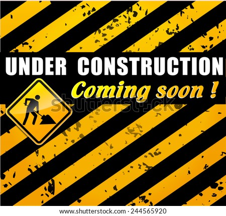 illustration of site under construction concept background