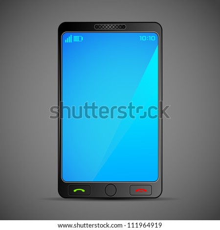 illustration of smart mobile phone on abstract background