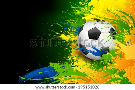 illustration of soccer ball in Football background - stock vector