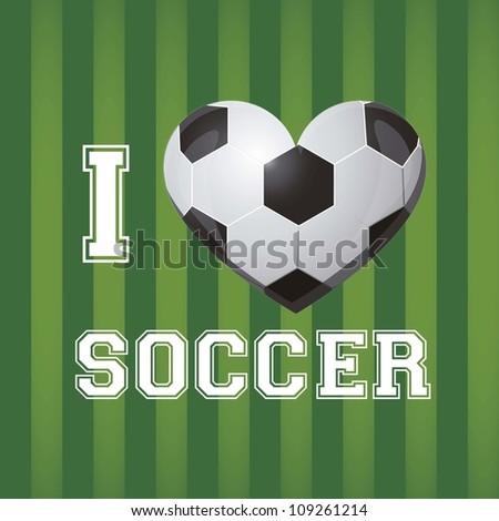 illustration of soccer ball on a background of blue green, vector illustration - stock vector