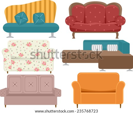 Different Styles Of Sofas sofa vector stock images, royalty-free images & vectors | shutterstock